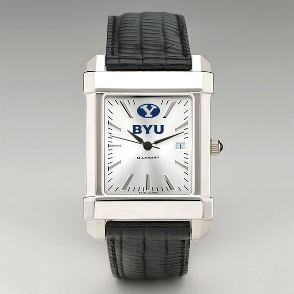 Brigham Young University Men's Collegiate Watch with Leather Strap - Image 2