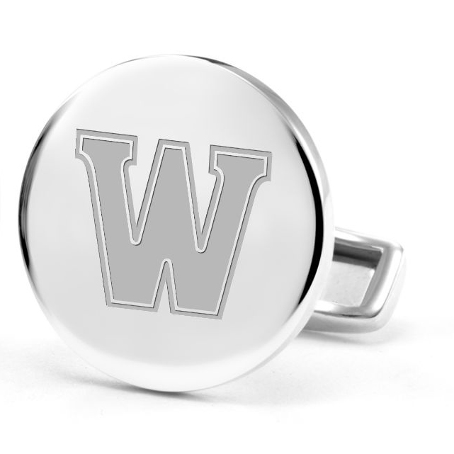 Williams College Cufflinks in Sterling Silver - Image 2