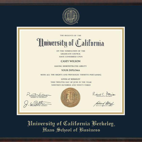 Berkeley Haas Diploma Frame, the Fidelitas - Image 2