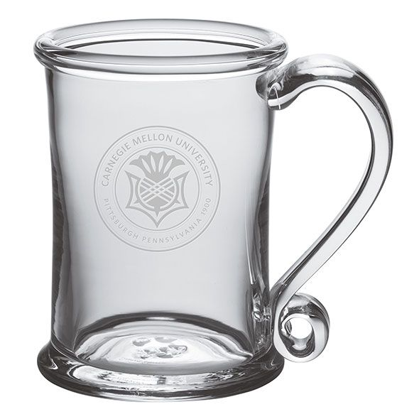 Carnegie Mellon University Glass Tankard by Simon Pearce - Image 1