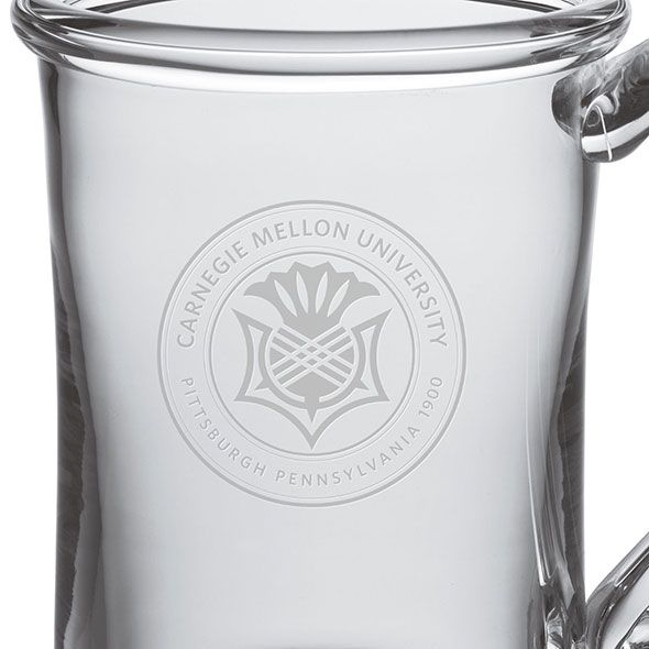 Carnegie Mellon University Glass Tankard by Simon Pearce - Image 2