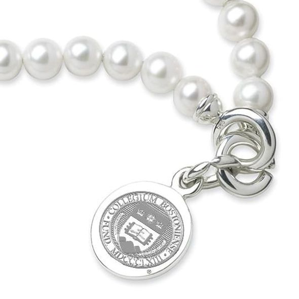 Boston College Pearl Bracelet with Sterling Silver Charm - Image 2