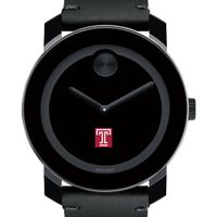 Temple Men's Movado BOLD with Leather Strap