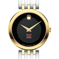 Miami University Women's Movado Esparanza Two-Tone Museum with Bracelet