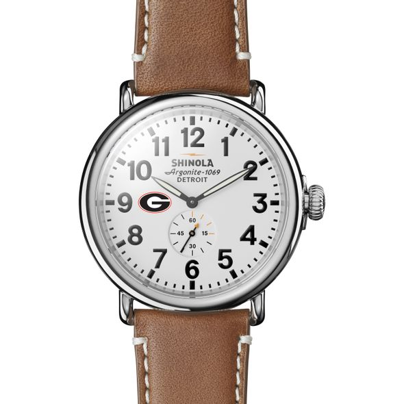 Georgia Shinola Watch, The Runwell 47mm White Dial - Image 2