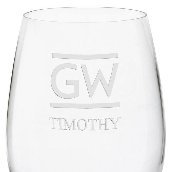 George Washington University Red Wine Glasses - Set of 2 - Image 3