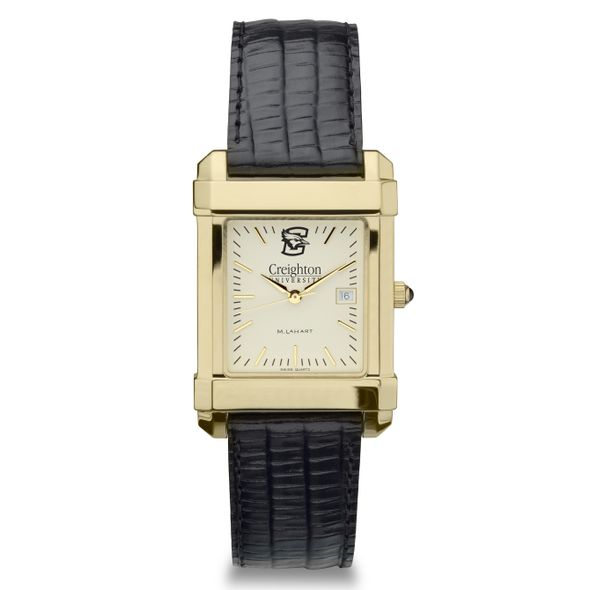 Creighton Men's Gold Quad with Leather Strap - Image 2