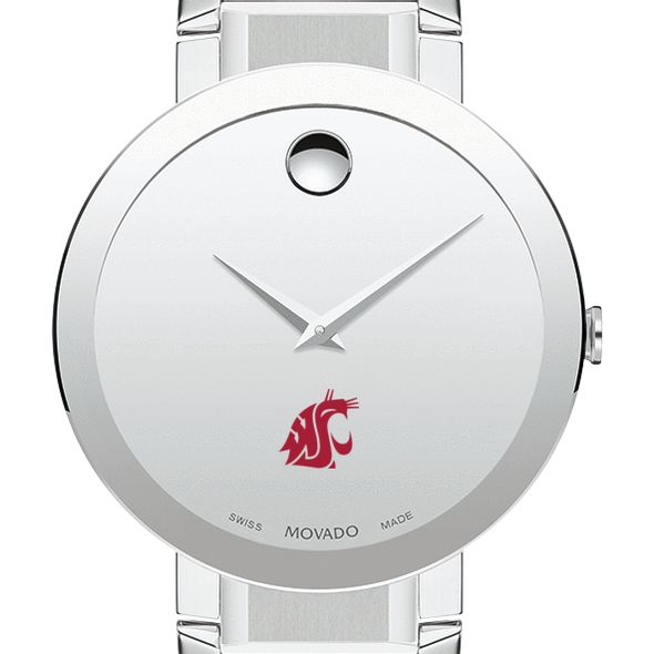 Washington State University Men's Movado Sapphire Museum with Bracelet