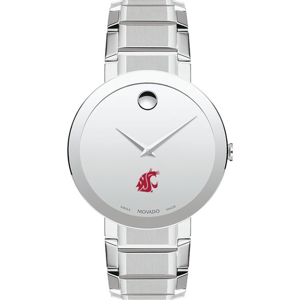 Washington State University Men's Movado Sapphire Museum with Bracelet - Image 2