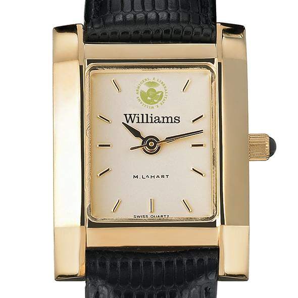 Williams College Women's Gold Quad with leather strap