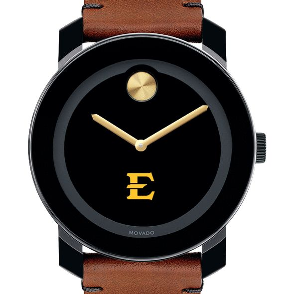 East Tennessee State University Men's Movado BOLD with Brown Leather Strap