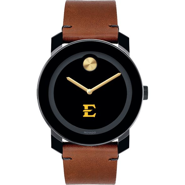 East Tennessee State University Men's Movado BOLD with Brown Leather Strap - Image 2