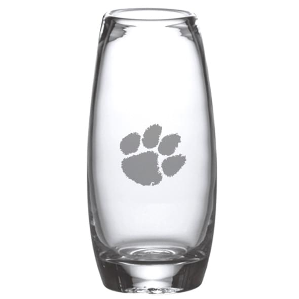 Clemson Glass Addison Vase by Simon Pearce