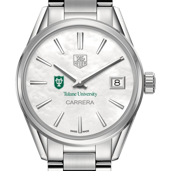 Tulane University Women's TAG Heuer Steel Carrera with MOP Dial