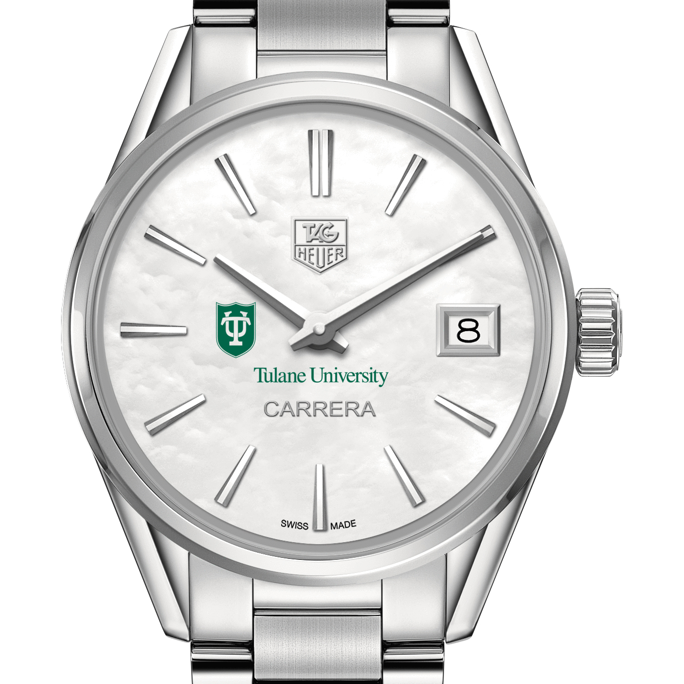 Tulane Women's TAG Heuer Steel Carrera with MOP Dial