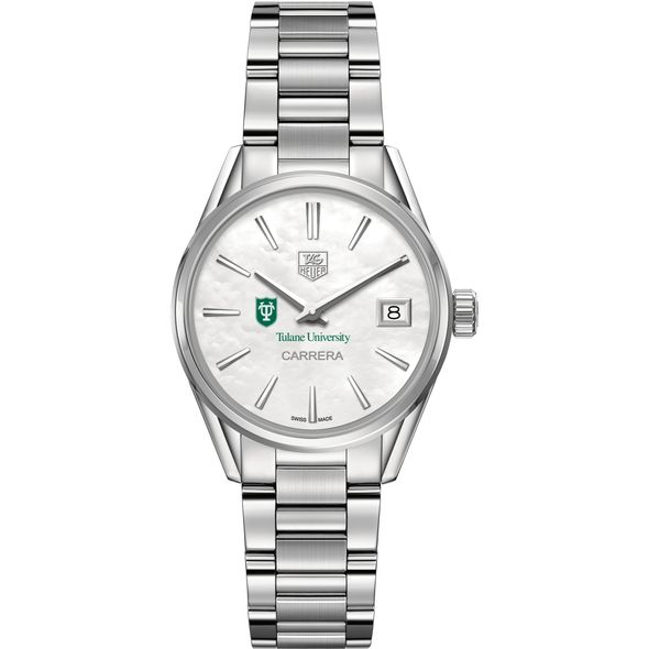 Tulane University Women's TAG Heuer Steel Carrera with MOP Dial - Image 2