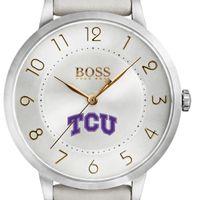 Texas Christian University Women's BOSS White Leather from M.LaHart