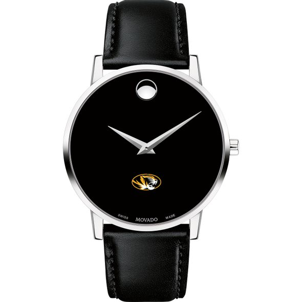 University of Missouri Men's Movado Museum with Leather Strap - Image 2