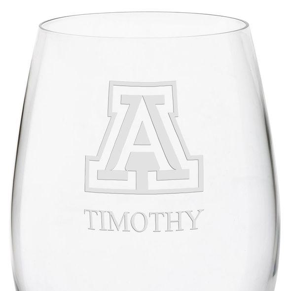 University of Arizona Red Wine Glasses - Set of 4 - Image 3