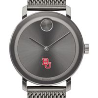 Boston University Men's Movado BOLD Gunmetal Grey with Mesh Bracelet