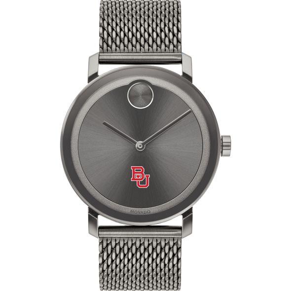 Boston University Men's Movado BOLD Gunmetal Grey with Mesh Bracelet - Image 2