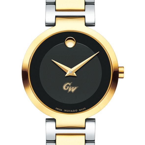 George Washington University Women's Movado Two-Tone Modern Classic Museum with Bracelet