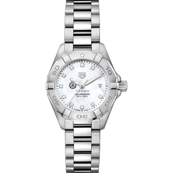 USMMA Women's TAG Heuer Steel Aquaracer with MOP Diamond Dial - Image 2
