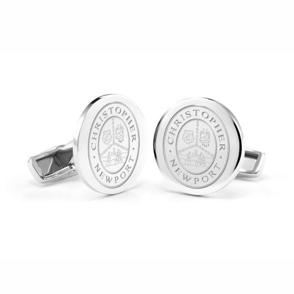 Christopher Newport University Cufflinks in Sterling Silver