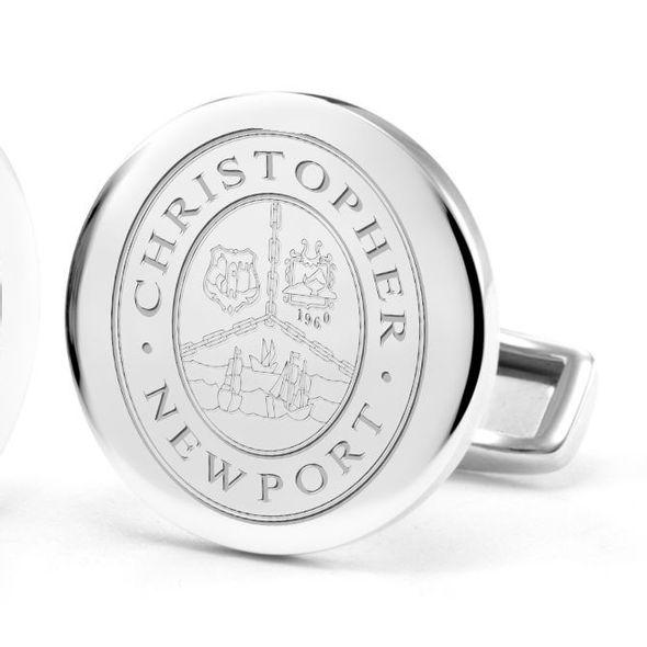 Christopher Newport University Cufflinks in Sterling Silver - Image 2