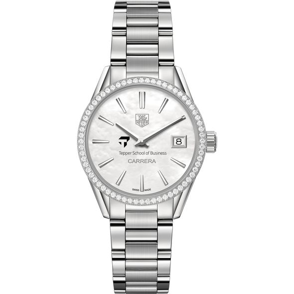Tepper Women's TAG Heuer Steel Carrera with MOP Dial & Diamond Bezel - Image 2