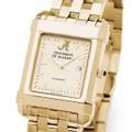 Alabama Men's Gold Quad Watch with Bracelet - Image 1