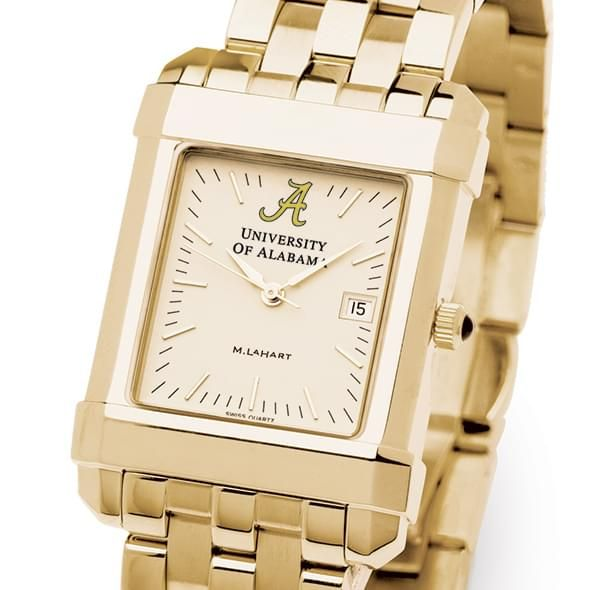 Alabama Men's Gold Quad Watch with Bracelet - Image 1