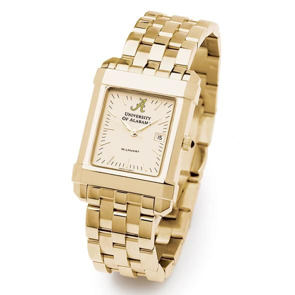 Alabama Men's Gold Quad Watch with Bracelet - Image 2