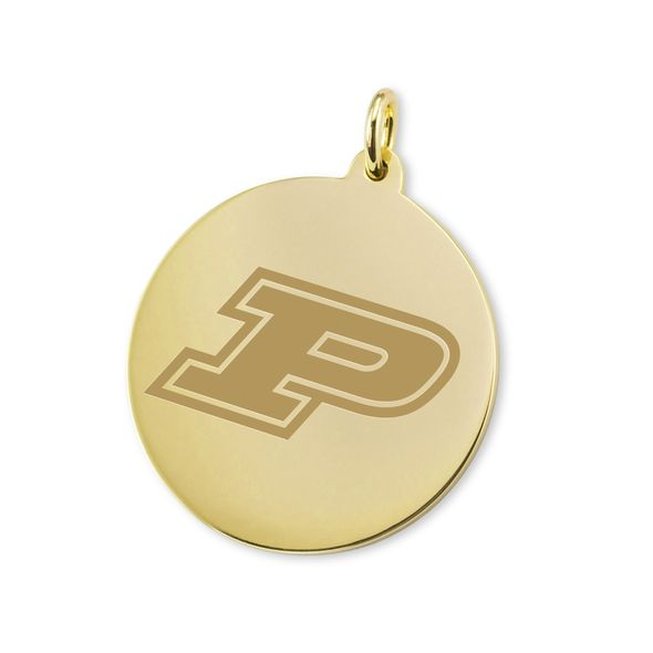 Purdue University 14K Gold Charm