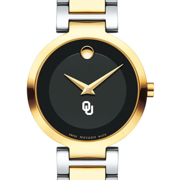 University of Oklahoma Women's Movado Two-Tone Modern Classic Museum with Bracelet