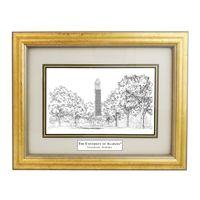 Framed Pen and Ink Alabama Print