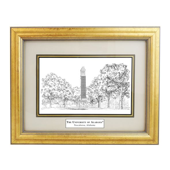 Framed Pen and Ink Alabama Print