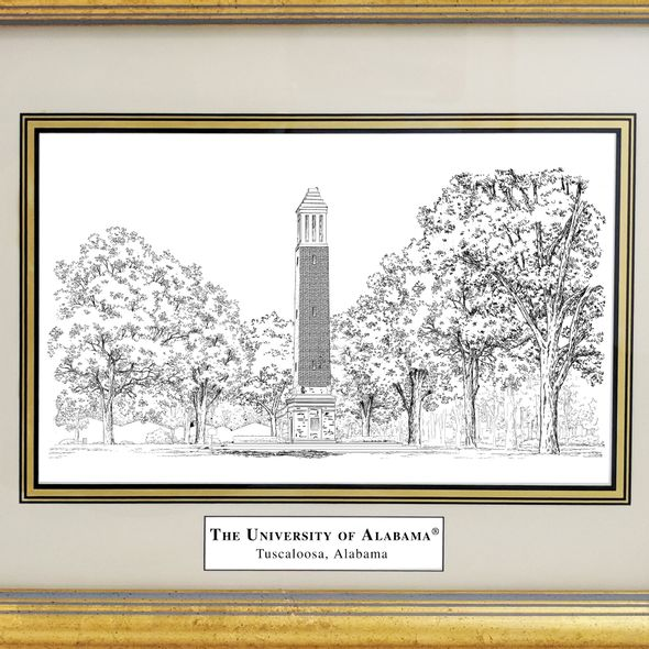 Framed Pen and Ink Alabama Print - Image 2