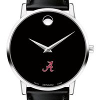 University of Alabama Men's Movado Museum with Leather Strap