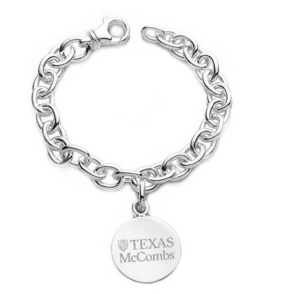Texas McCombs Sterling Silver Charm Bracelet - Image 1