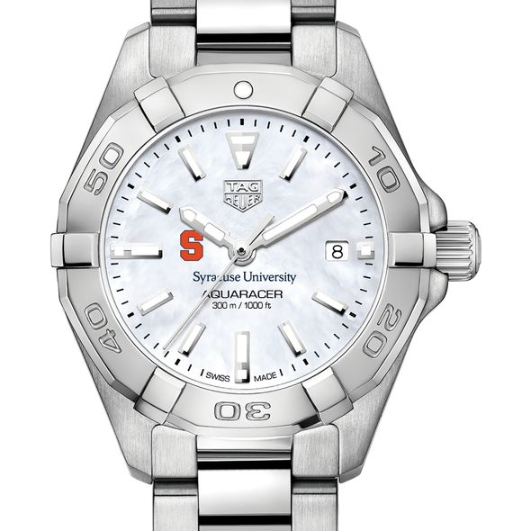 Syracuse University Women's TAG Heuer Steel Aquaracer w MOP Dial - Image 1