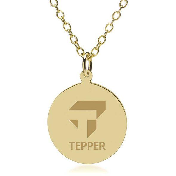 Tepper 18K Gold Pendant & Chain