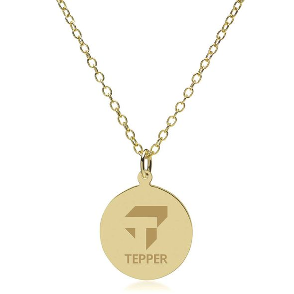 Tepper 18K Gold Pendant & Chain - Image 2