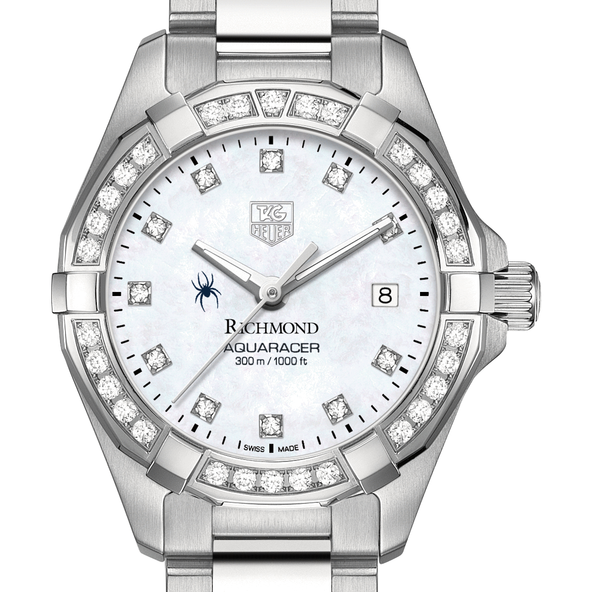 University of Richmond W's TAG Heuer Steel Aquaracer with MOP Dia Dial & Bezel - Image 1