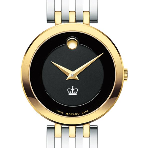 Columbia University Women's Movado Esparanza Two-Tone Museum with Bracelet - Image 1