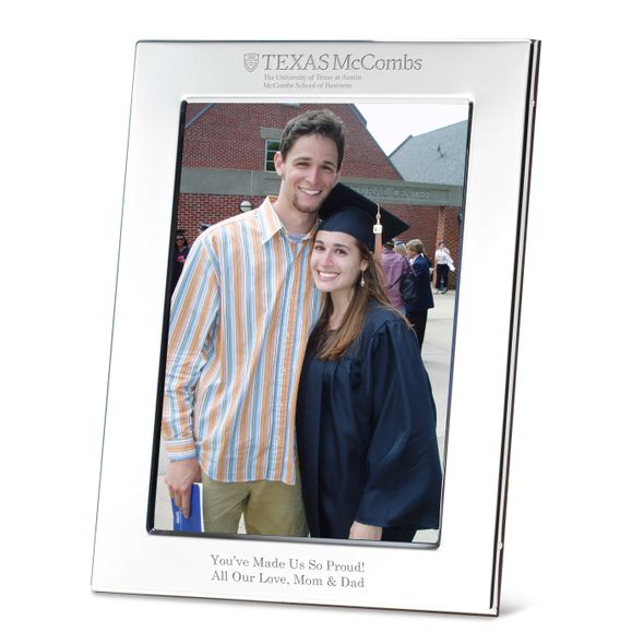 Texas McCombs Polished Pewter 5x7 Picture Frame - Image 1