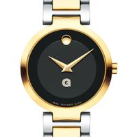 Georgetown University Women's Movado Two-Tone Modern Classic Museum with Bracelet