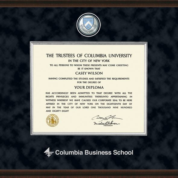 Columbia Business Diploma Frame - Excelsior - Image 2