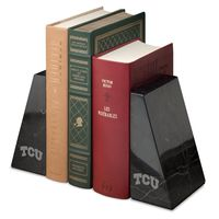 Texas Christian University Marble Bookends by M.LaHart
