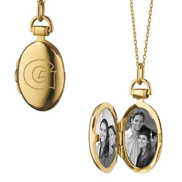 Georgetown Monica Rich Kosann Petite Locket in Gold - Image 2